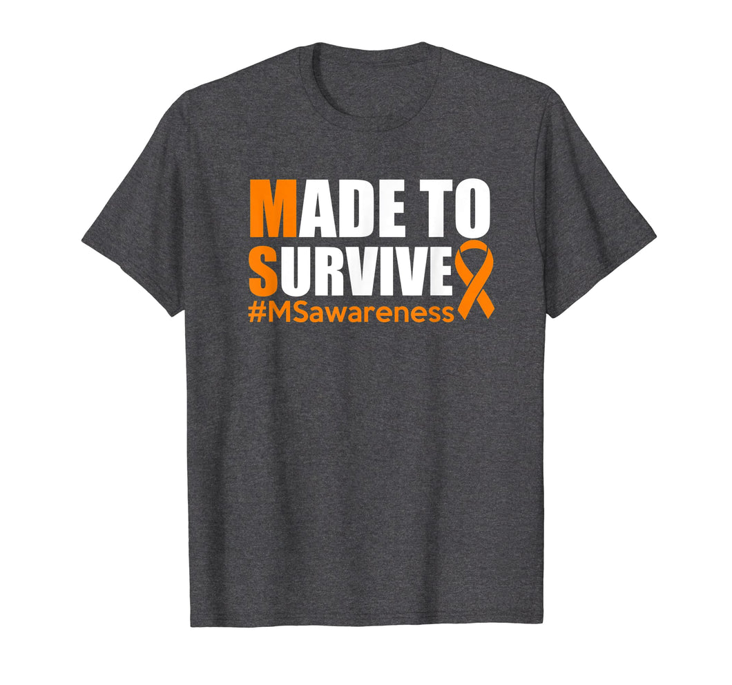 Funny shirts V-neck Tank top Hoodie sweatshirt usa uk au ca gifts for Made To Survive Multiple Sclerosis Awareness Shirt 2054078