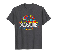 Load image into Gallery viewer, Funny shirts V-neck Tank top Hoodie sweatshirt usa uk au ca gifts for Dadasaurus-Dinosaur T-Rex Proud Autism Dad Shirt Gift 1246753