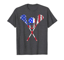 Load image into Gallery viewer, Funny shirts V-neck Tank top Hoodie sweatshirt usa uk au ca gifts for Lacrosse American Flag Gift T Shirt Lax Player Sticks Design 1270281