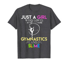 Load image into Gallery viewer, Funny shirts V-neck Tank top Hoodie sweatshirt usa uk au ca gifts for Cute Just A Girl Who Loves Gymnastics and Slime Gift T-shirt 1281952