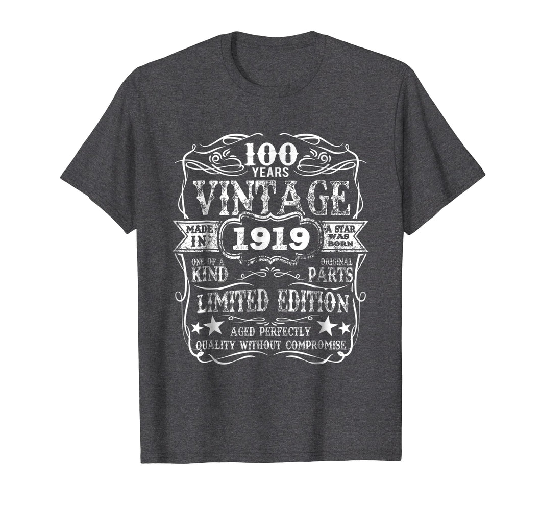Funny shirts V-neck Tank top Hoodie sweatshirt usa uk au ca gifts for Made In 1919 100 Years Old Vintage 100th Birthday Gift Shirt 1436300