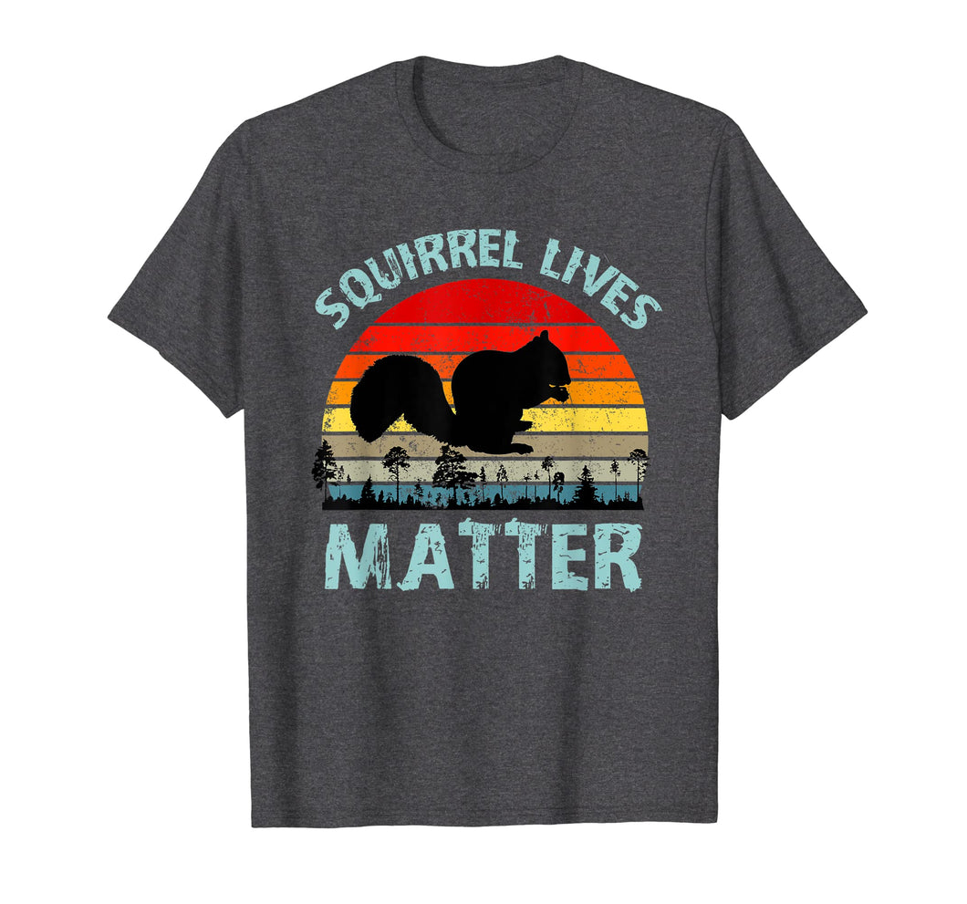 Funny shirts V-neck Tank top Hoodie sweatshirt usa uk au ca gifts for Squirrel Lives Matter Vintage Retro Color Sunset T Shirt 1636309