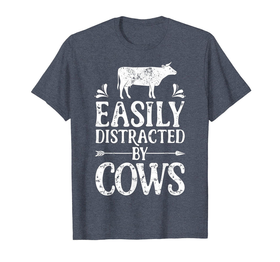 Funny shirts V-neck Tank top Hoodie sweatshirt usa uk au ca gifts for Easily Distracted By Cows T Shirt Cow Men Women Gifts Farmer 491137