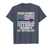 Load image into Gallery viewer, Funny shirts V-neck Tank top Hoodie sweatshirt usa uk au ca gifts for Mens Police Grandpa Shirt Blue Line Flag Heart 2333979