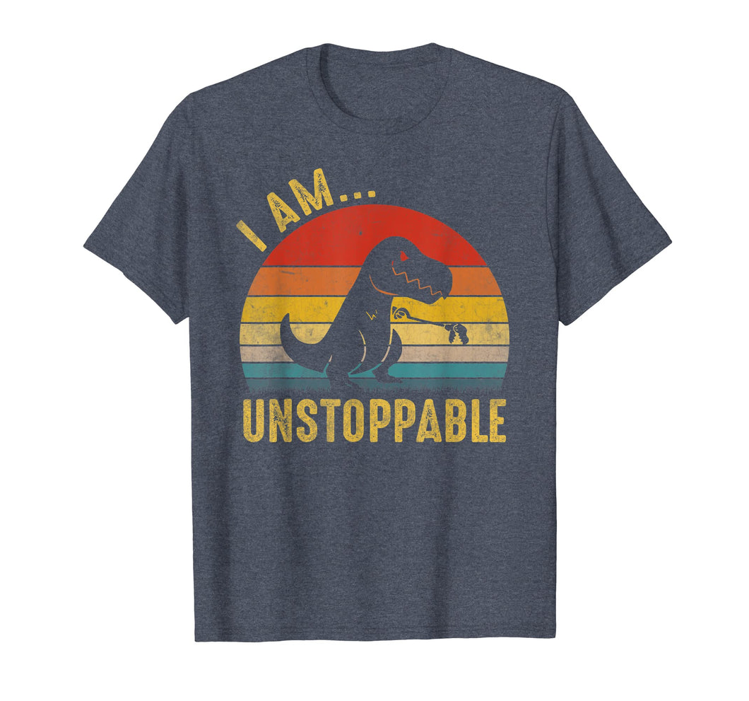 Funny shirts V-neck Tank top Hoodie sweatshirt usa uk au ca gifts for Vintage Unstoppable Funny T-Rex Dinosaur T-shirt Gift 135664
