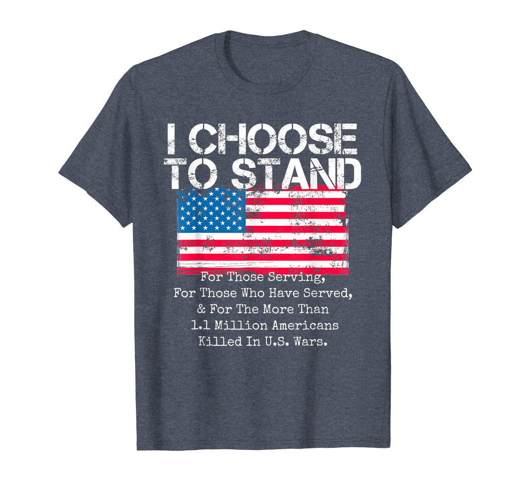 Funny shirts V-neck Tank top Hoodie sweatshirt usa uk au ca gifts for American Flag Shirt I Choose to Stand National Anthem Quote 1151260
