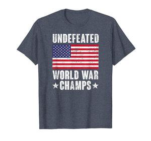 Funny shirts V-neck Tank top Hoodie sweatshirt usa uk au ca gifts for Undefeated World War Champs Shirt - American Flag Merica Tee 1091425