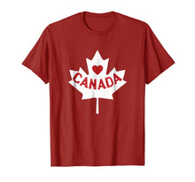 Load image into Gallery viewer, Funny shirts V-neck Tank top Hoodie sweatshirt usa uk au ca gifts for I Love Canada Maple Leaf Canadian Pride T-Shirt 1100722