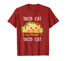 Load image into Gallery viewer, Funny shirts V-neck Tank top Hoodie sweatshirt usa uk au ca gifts for Taco Cat Spelled Backwards Is Taco Cat: Cute Cat Pun T-Shirt 231387