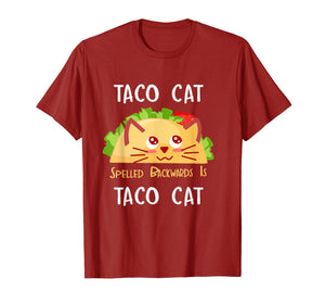 Funny shirts V-neck Tank top Hoodie sweatshirt usa uk au ca gifts for Taco Cat Spelled Backwards Is Taco Cat: Cute Cat Pun T-Shirt 231387