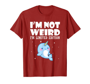 Funny shirts V-neck Tank top Hoodie sweatshirt usa uk au ca gifts for Narwhal Shirt I'm Not Weird I'm Limited Edition T Shirt 1292919
