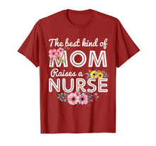 Load image into Gallery viewer, Funny shirts V-neck Tank top Hoodie sweatshirt usa uk au ca gifts for The Best Kind Of Mom Raises A Nurse Flower Shirt 1064372