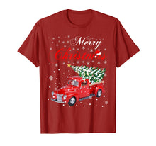 Load image into Gallery viewer, Funny shirts V-neck Tank top Hoodie sweatshirt usa uk au ca gifts for Red Truck Merry Christmas Tree Vintage Red Pickup Truck Tee 1334011