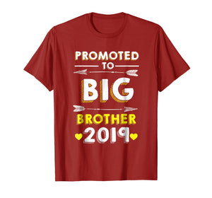 Funny shirts V-neck Tank top Hoodie sweatshirt usa uk au ca gifts for Promoted to big Brother 2019 T-shirt 1003368