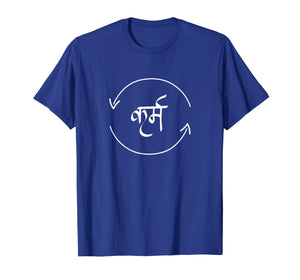 Funny shirts V-neck Tank top Hoodie sweatshirt usa uk au ca gifts for Karma in Hindi Cycle of Life Spirituality Hindu Dharma shirt 2288459