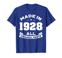 Load image into Gallery viewer, Funny shirts V-neck Tank top Hoodie sweatshirt usa uk au ca gifts for Age Shirt Made in 1928 91st Years Old 90 Birthday Gift 1281643