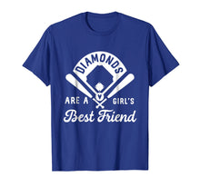 Load image into Gallery viewer, Funny shirts V-neck Tank top Hoodie sweatshirt usa uk au ca gifts for Diamonds Are A Girl's Best Friend Shirt Baseball Softball 1570814