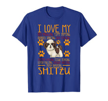 Load image into Gallery viewer, Funny shirts V-neck Tank top Hoodie sweatshirt usa uk au ca gifts for I Love My Shitzu T shirt Gift For Dog Lover Shirt 1552155