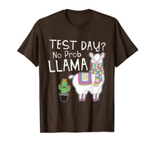Load image into Gallery viewer, Funny shirts V-neck Tank top Hoodie sweatshirt usa uk au ca gifts for Teacher Test Day No Prob Llama Testing Shirt for Teachers T-Shirt 1643116