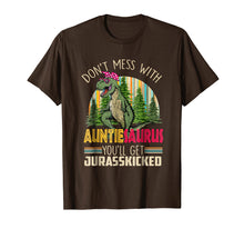 Load image into Gallery viewer, Funny shirts V-neck Tank top Hoodie sweatshirt usa uk au ca gifts for Don't Mess With AuntieSaurus You'll Get Jurasskicked Shirt 1469606