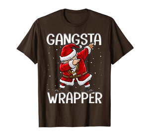 Funny shirts V-neck Tank top Hoodie sweatshirt usa uk au ca gifts for Gangsta Wrapper Funny Dabbing Santa Christmas Gift Men Kids T-Shirt 107471