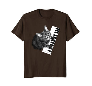 Funny shirts V-neck Tank top Hoodie sweatshirt usa uk au ca gifts for Piano Cat Tee Shirt-Music Lover Piano Tee- Cat Tshirt 1176325
