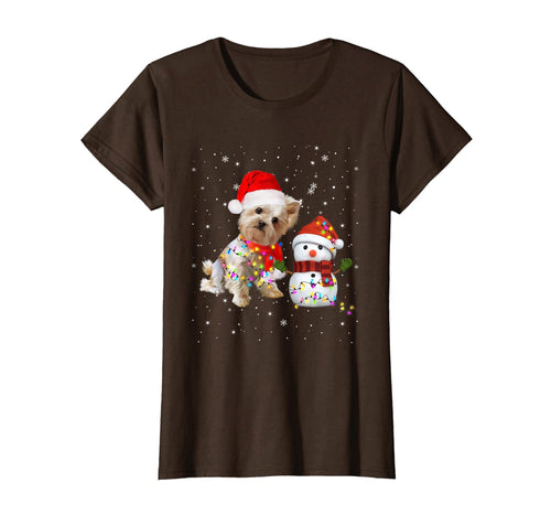 Funny shirts V-neck Tank top Hoodie sweatshirt usa uk au ca gifts for Yorkie Snowman Funny Cute Dog Mom Dad Christmas Gift T-Shirt 983113