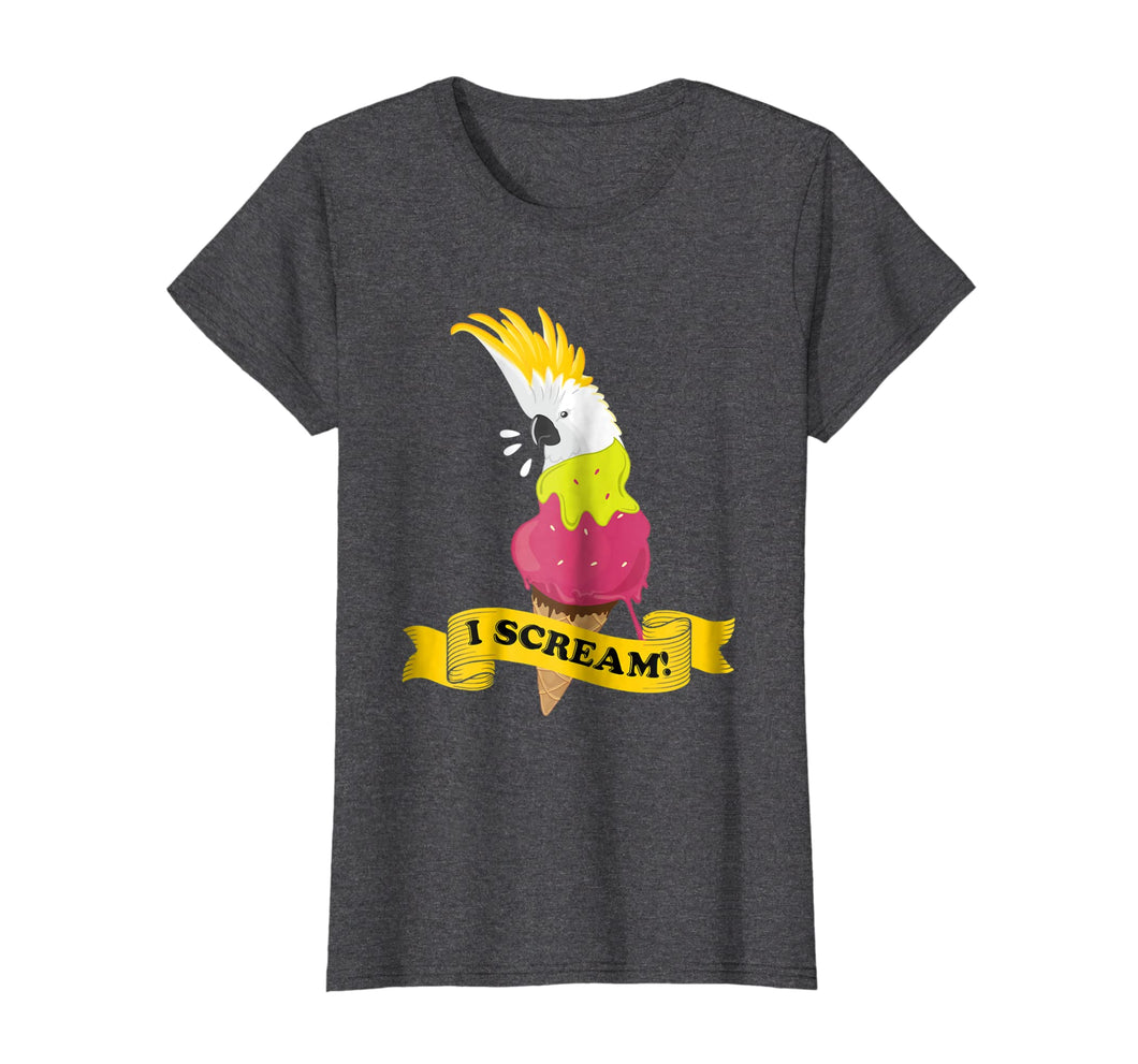 Funny shirts V-neck Tank top Hoodie sweatshirt usa uk au ca gifts for Moluccan Cockatoo Ice Cream Parrot Tshirt 2300392