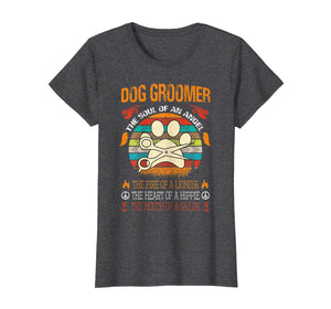 Funny shirts V-neck Tank top Hoodie sweatshirt usa uk au ca gifts for Dog Groomer The Soul Of An Angel T Shirt 1472318