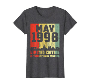 Funny shirts V-neck Tank top Hoodie sweatshirt usa uk au ca gifts for 21st Birthday Gift Awesome May 1998 21 Years Old T-Shirt 155819