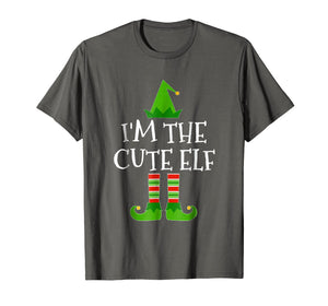 Funny shirts V-neck Tank top Hoodie sweatshirt usa uk au ca gifts for I'm The Cute Elf Matching Family Group Christmas T Shirt 1014912