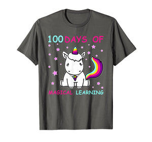 Funny shirts V-neck Tank top Hoodie sweatshirt usa uk au ca gifts for Adorable 100th Day of School Unicorn T-Shirt 2038567