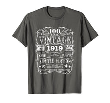 Load image into Gallery viewer, Funny shirts V-neck Tank top Hoodie sweatshirt usa uk au ca gifts for Made In 1919 100 Years Old Vintage 100th Birthday Gift Shirt 1436300