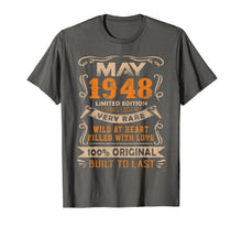 Load image into Gallery viewer, Funny shirts V-neck Tank top Hoodie sweatshirt usa uk au ca gifts for Vintage 71th Birthday May 1948 Shirt 71 Years Old Gift 1355879