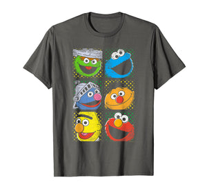 Funny shirts V-neck Tank top Hoodie sweatshirt usa uk au ca gifts for Sesame Street Group Squares T Shirt 156367