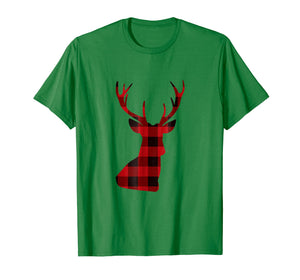 Funny shirts V-neck Tank top Hoodie sweatshirt usa uk au ca gifts for Holiday Christmas Reindeer Deer Buffalo Plaid Shirt 1952436