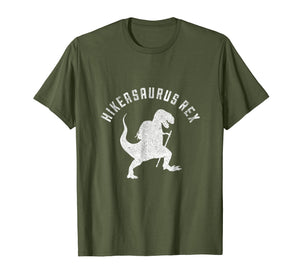 Funny shirts V-neck Tank top Hoodie sweatshirt usa uk au ca gifts for Hikeasaurus Rex Funny Dinosaur T Rex Hiking T-Shirt 1016285