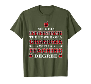 Funny shirts V-neck Tank top Hoodie sweatshirt usa uk au ca gifts for Never Underestimate The Power Of A Grandma With A Teaching 1403015