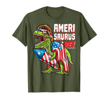 Load image into Gallery viewer, Funny shirts V-neck Tank top Hoodie sweatshirt usa uk au ca gifts for Amerisaurus Rex Dinosaur 4th of July Firework Shirt Kids 2266278