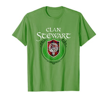 Load image into Gallery viewer, Funny shirts V-neck Tank top Hoodie sweatshirt usa uk au ca gifts for Stewart Surname Scottish Clan Tartan Crest Badge T-shirt 1490391
