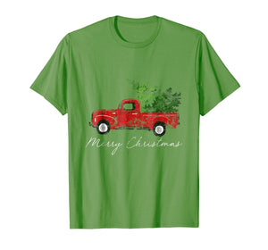 Funny shirts V-neck Tank top Hoodie sweatshirt usa uk au ca gifts for Vintage Christmas Classic Truck T-Shirt with Snow and Tree 1298378