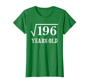 Funny shirts V-neck Tank top Hoodie sweatshirt usa uk au ca gifts for Square Root of 196 14 yrs years old 14th birthday T-Shirt 1043676