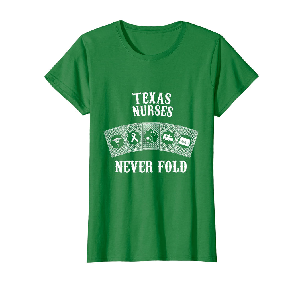 Funny shirts V-neck Tank top Hoodie sweatshirt usa uk au ca gifts for Texas nurses never fold nurse day funny T-shirt 1605160