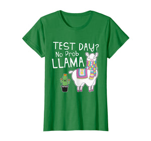 Funny shirts V-neck Tank top Hoodie sweatshirt usa uk au ca gifts for Teacher Test Day No Prob Llama Testing Shirt for Teachers T-Shirt 1643116