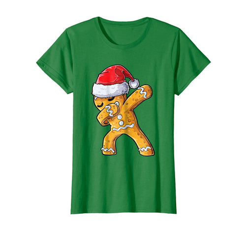 Funny shirts V-neck Tank top Hoodie sweatshirt usa uk au ca gifts for Dabbing Gingerbread Santa T shirt Christmas kids boys Gifts 939283