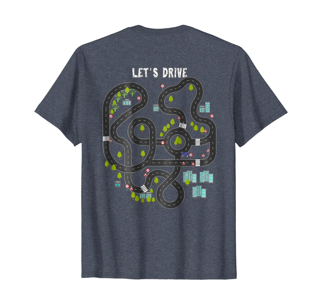 Play Cars on Daddys Back Gift T Shirt for Dad Massage Tee 68341
