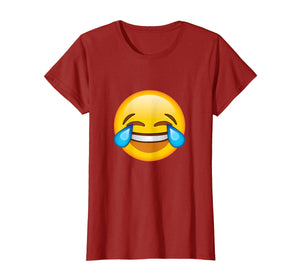 Funny shirts V-neck Tank top Hoodie sweatshirt usa uk au ca gifts for Emoticon Face Tears of Joy Emoji T-shirt 1464020