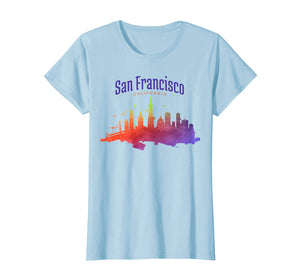 Funny shirts V-neck Tank top Hoodie sweatshirt usa uk au ca gifts for San Francisco Watercolor Skyline T-Shirt | San Fran Gift 1170503