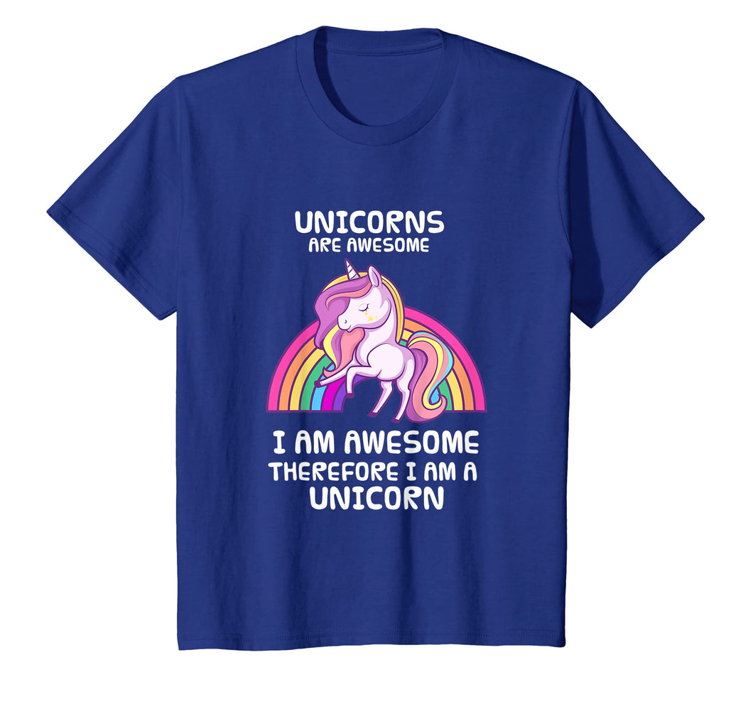 Funny shirts V-neck Tank top Hoodie sweatshirt usa uk au ca gifts for Unicorns Are Awesome Therefore I am A Unicorn Funny T-Shirt 1533834