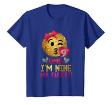 Load image into Gallery viewer, Funny shirts V-neck Tank top Hoodie sweatshirt usa uk au ca gifts for 9th Birthday Shirt For Girls - OMG! I'm Nine and Fabulous 2559376